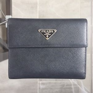 Prada Saffiano Trifold Wallet